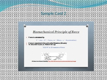 Biomechanics : Force and Momentum Sample Classroom Notes