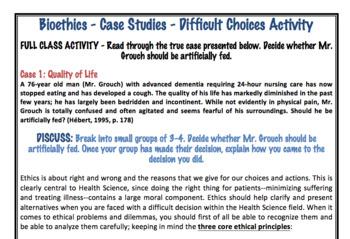 Biomedical Ethics Case Studies Activity (Editable)