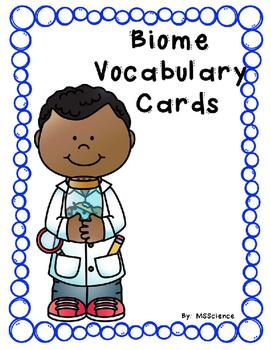 Biome Vocabulary Cards