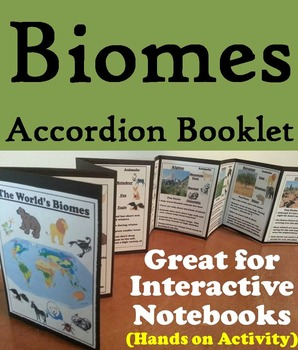 Biomes Interactive Notebook: Animal Habitats Activity Foldable (Ecosystems Unit)