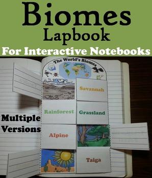 Biomes Interactive Notebook: Animal Habitats Activity Foldable (Ecosystems Unit)