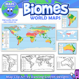 Biomes - Maps of the World and Continents Clip Art