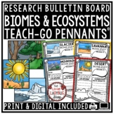 Biomes Research Project & Ecosystems Activity Poster • Teach- Go Pennants™