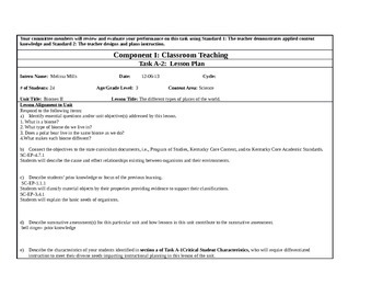 Biomes 3rd grade lesson plan A2 KTIP