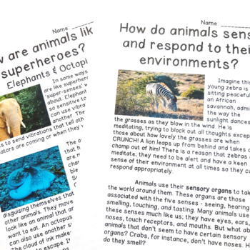 Biomes & Adaptations PBL: Texts, Research Prompts, Cross-curricular Projects