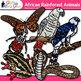 African Rainforest Animal Clip Art {Teach Groups, Habitats, & Classification}