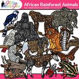 African Rainforest Animal Clipart: Habitat Graphics {Glitter Meets Glue}