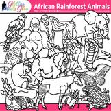 African Rainforest Animal Clipart: Habitat Graphics B&W {Glitter Meets Glue}