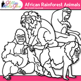 African Rainforest Animal Clip Art {Teach Groups, Habitats