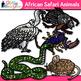 African Safari Animal Clip Art {Teach Groups, Habitats, & Classification}