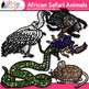 African Safari Animal Clip Art {Teach Groups, Habitats, &