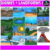 Biomes And Landforms 1 Clip Art Bundle {Educlips Clipart}