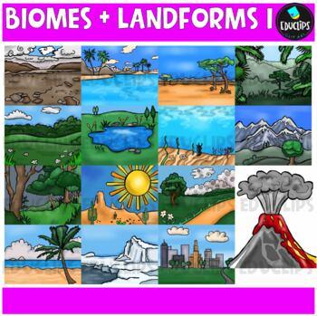 Biomes And Landforms 1 Clip Art Bundle {Educlips Clipart}