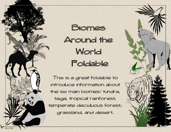 Biomes Around the World Foldable