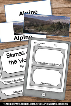 Biomes of World, Earth Science BUNDLE of Task Cards, Activities & Games