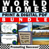 Biomes Unit BUNDLE Interactive Notebook Task Cards Crafts Worksheets