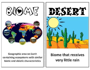 Biomes, Biodiversity, and Ecological Succession English/Spanish Word Wall