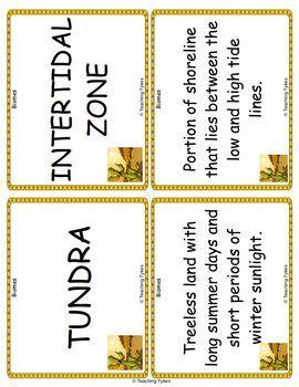 Biomes Vocabulary Cards