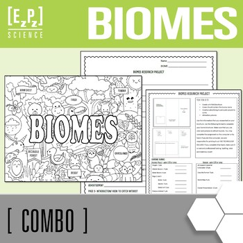 Biomes Brochure and Biomes Seek & Find Doodle Page Combo