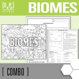 Biomes Brochure & Biomes Seek and Find Science Doodle Page Combo