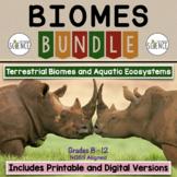 Biomes Bundle | Printable and Digital Distance Learning