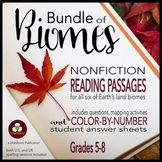 Biomes Bundle: Reading, Color By Number, and Mapping for Distance Learning