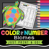 Biomes Color by Number - Science Color By Number