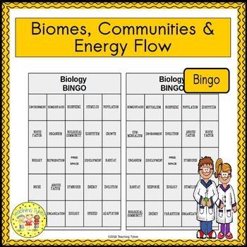 Biomes, Communities, and Energy Flow BINGO