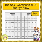 Biomes, Communities, and Energy Flow BINGO