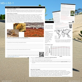 Biomes - Content Literacy Workbook (NGSS MS-LS2.A)