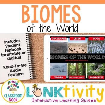 Link & Think Digital Guide - Biomes {Google Classroom Compatible}