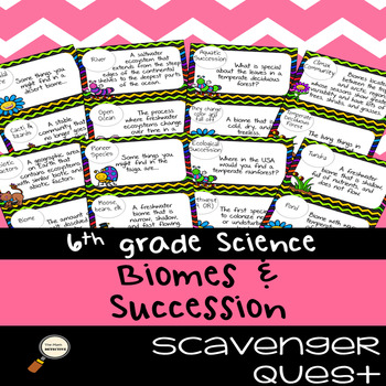 Biomes & Ecological Succession - Science Scavenger Quest