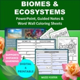 Biomes & Ecosystem Power point, Graphic Organizer, and Wor