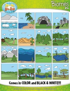 Biomes / Ecosystems Clipart {Zip-A-Dee-Doo-Dah Designs}