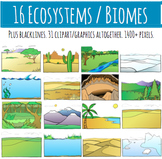 Biomes - Ecosystems - Habitats Clip Art Graphics