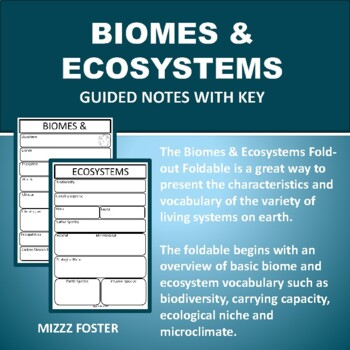 Biomes & Ecosystems Foldable Graphic Organizers for Interactive Notebooks