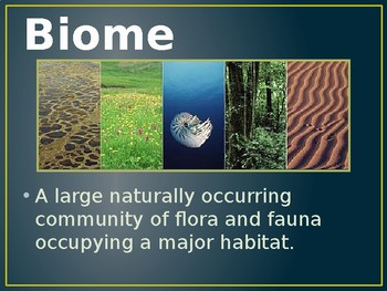 Biomes & Ecosystems Power Point