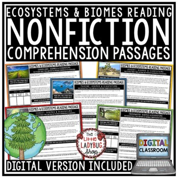 Biomes & Ecosystems Reading Comprehension Passages and Questions 4th Grade