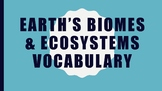 Biomes & Ecosystems Vocabulary