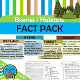 BIOMES HABITATS Fact Pack Informational Text Passages Writ