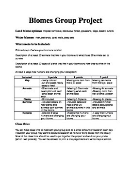 Biomes Group Project