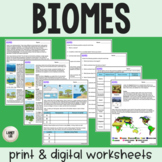 Biomes - Guided Practice - Print & Google Versions