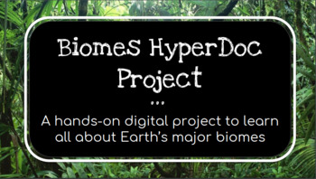 Biomes HyperDoc Project - A Fun & Interactive Digital Lesson
