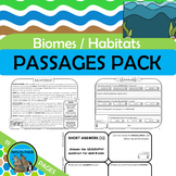 BIOMES Informational Text Reading Passages Comprehension Questions