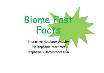 Biomes: Interactive Notebook