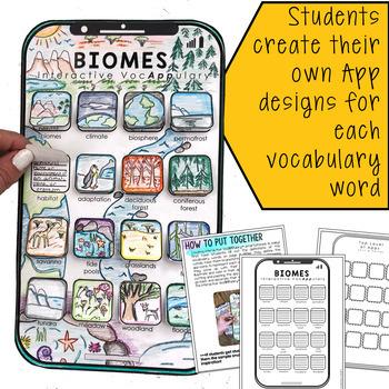 Biomes Interactive VocAPPulary - Vocabulary App Activity