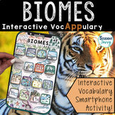 Biomes Interactive VocAPPulary - Vocabulary App Activity