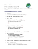 Biomes Internet Research with KEY