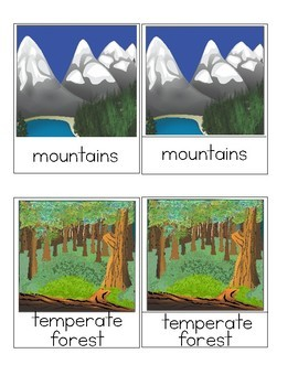 Biomes - Montessori 3-Part Cards & Booklet Making