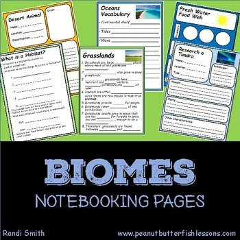 Biomes Notebooking Pages